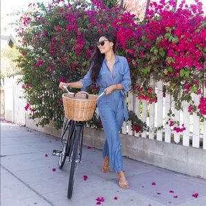 L'Agence denim jumpsuit